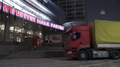 CHP'li Erdoğdu ve Yalım, tırla Ankara'ya geldi