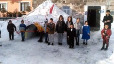 Çocuklar temsili Ilgar Dağı tünelinin açılışını yaptı
