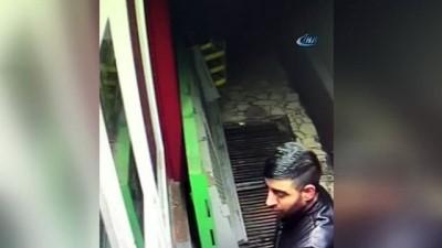 Hırsızlık yaparken kameralara yakalanan şahıs polisin dikkatinden de kaçamadı