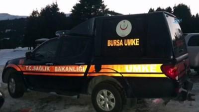 askeri helikopter -  Uludağ'da kabus dolu gece...Şelalede mahsur kalan 3 kişi helikopterle kurtarıldı