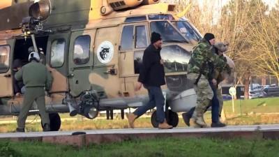 askeri helikopter - Uludağ'da mahsur kalanlar kurtarıldı (2) - BURSA