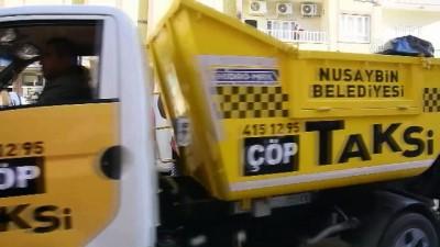 Nusaybin'de 'çöp taksi' uygulaması - MARDİN