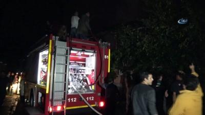 Düzce'de eve yıldırım düştü yangın çıktı