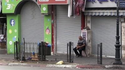 Filistinliler genel grevde - RAMALLAH