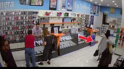 İş yerinden hırsızlık anı güvenlik kameralarına yansıdı - UŞAK