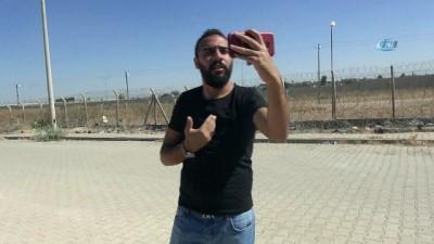 Suriyeli sığınmacıdan sınırın sıfır noktasında tek kişilik eylem