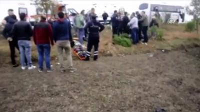 İşçi servisi devrildi: 14 yaralı - TEKİRDAĞ