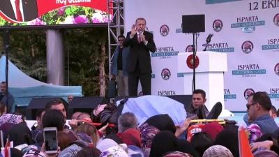 Cumhurbaşkanı Recep Tayyip Erdoğan: 'Bay Kemal hastanelerde tedavi, ameliyatlar durdu mu durmadı mı gel de Isparta'da şehir hastanesine bak'