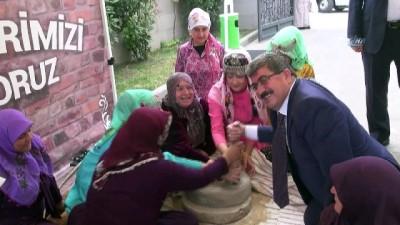 Dibekte bulgurlar dövüldü, değirmende geçirildi, yüzyıllık gelenek Bilecik'te yaşatıldı