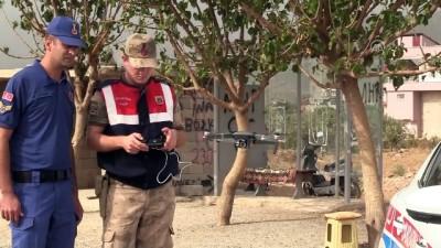 Hatay'da 'drone' ile havadan trafik denetimi yapıldı