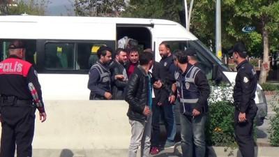 hapis cezasi -  30 adrese yapılan eş zamanlı operasyonda 8 kişi adliyeye sevk edildi