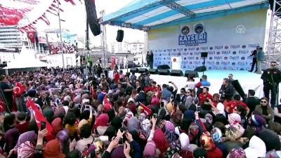 Cumhurbaşkanı Erdoğan: 'Yahu sen ölüleri rehine alıyordun ya ölüleri' - KAYSERİ