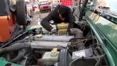 sanayi sitesi -  Eski askeri araçlar, Off-Road yarışları için restore ediliyor