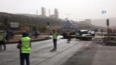 ticari arac -  Kahramanmaraş'ta feci kaza: 1 ölü, 6 yaralı