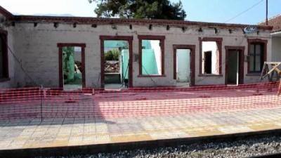 Kırkağaç tren garında restorasyon başladı