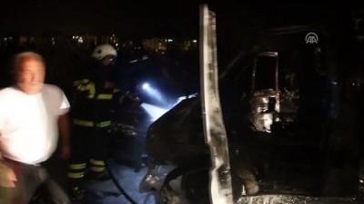 guvenlik onlemi - Hatay'da seyir halindeki araç yandı - HATAY