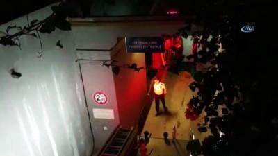guvenlik onlemi -  Kuşadası'nda Hilton Oteli otoparkında yangın