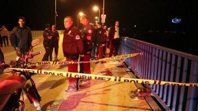 polis ekipleri -  Taksiciyi durduran genç kadın köprüden atlayarak intihar etti