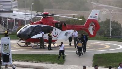 Hava ambulansı toz bulutuna rağmen hasta için havalandı - MALATYA