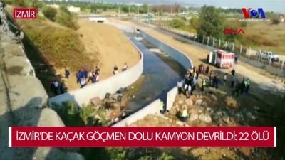 İzmir'de Kaçak Göçmen Dolu Kamyon Devrildi: 22 Ölü