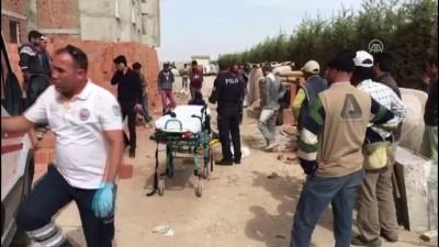 kamera - İnşaatın 13. katından düşen işçi öldü - KARAMAN