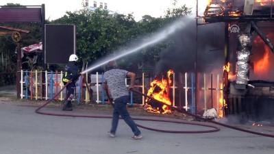 guvenlik onlemi - Kemer'de restoranda yangın - ANTALYA