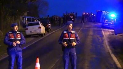 hanli - Minibüs devrildi: 13 yaralı (2) - EDİRNE