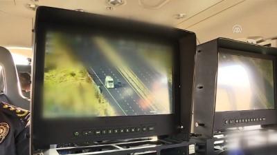 polis ekipleri - Trafikte kural ihlali yapanlar 'polisin havadaki gözü'nden kaçamadı - ANKARA