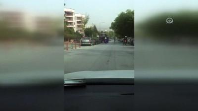 Başkentte traktörün araçları ezme anı - ANKARA