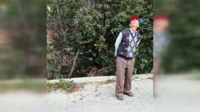 amator -  İlk kez drone gören yaşlı adamın şaşkınlığı kamerada