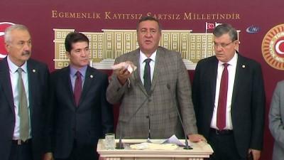 CHP'li Gürer'den et ile basın toplantısı