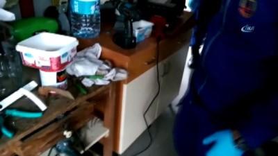 Jandarmadan mutfağı sahte içki imalathanesine çevrilen eve operasyon