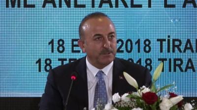 """- Dışişleri Bakanı Çavuşoğlu: """"Arnavutluk bizim için gerçek bir dost ülkedir"""""""
