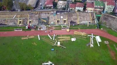 spor musabakasi - Eski Sakarya Atatürk Stadyumu'nda yıkım başladı