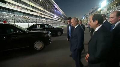 direksiyon - VİDEO | Putin direksiyona geçti, El Sisi'yi Formula 1 pistinde gezdirdi