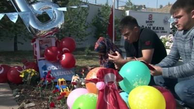 Şehit Bedirhan bebeğin ilk doğum günü mezarında kutlandı