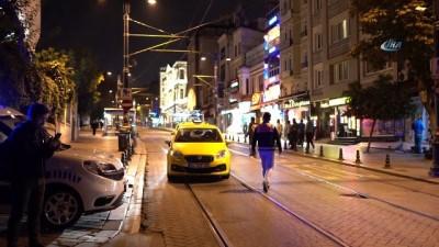 Turist almak için tramvay yoluna giren taksicilere ceza yağdı