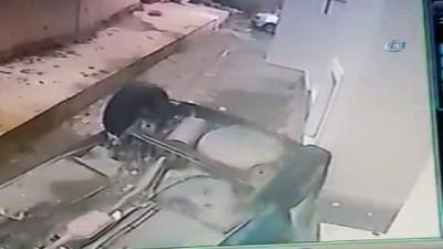 Kadın sürücü ölümden döndü