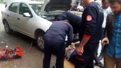 yavru kedi -  Otomobilin motorunda sıkışan kedi itfaiye ekipleri tarafından kurtarıldı