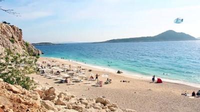 Kaputaş'ta yaz devam ediyor...Kaputaş plajı havadan görüntülendi
