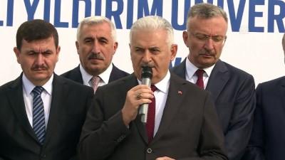 Yıldırım, Erzincan Binali Yıldırım Üniversitesi Kütüphanesi ve Müzesi temel atma törenine katıldı