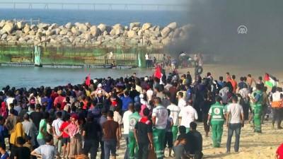 Ablukanın kaldırılması talebiyle düzenlenen 'deniz eylemleri' sürüyor (3) - GAZZE Video