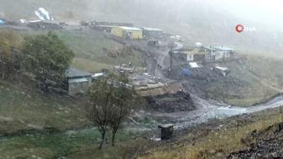 hava sicakligi -  Erzurum'da lapa lapa kar ve tipi