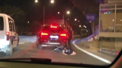 Polisten kaçan alkollü ve ehliyetsiz sürücü film sahnelerini aratmayan kovalamaca sonrasında kıskıvrak yakalandı Video