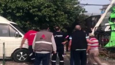 Tırların kaza anı kamerada Video