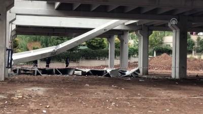 AVM inşaatında beton blok düştü: 2 yaralı - BATMAN