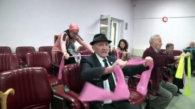ekince -  Huzurevi sakinleri sağlıklı yaşam için spor yaptı