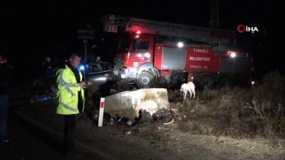 Tunceli'deki kazada yaralanan 2 kişi hayatını kaybetti