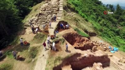 arkeolojik kazi -  2300 yıllık kaleden tarih fışkırdı