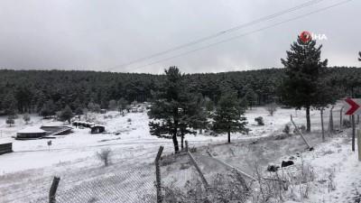 kar manzaralari -  Bursa'nın dağ ilçeleri beyaza büründü